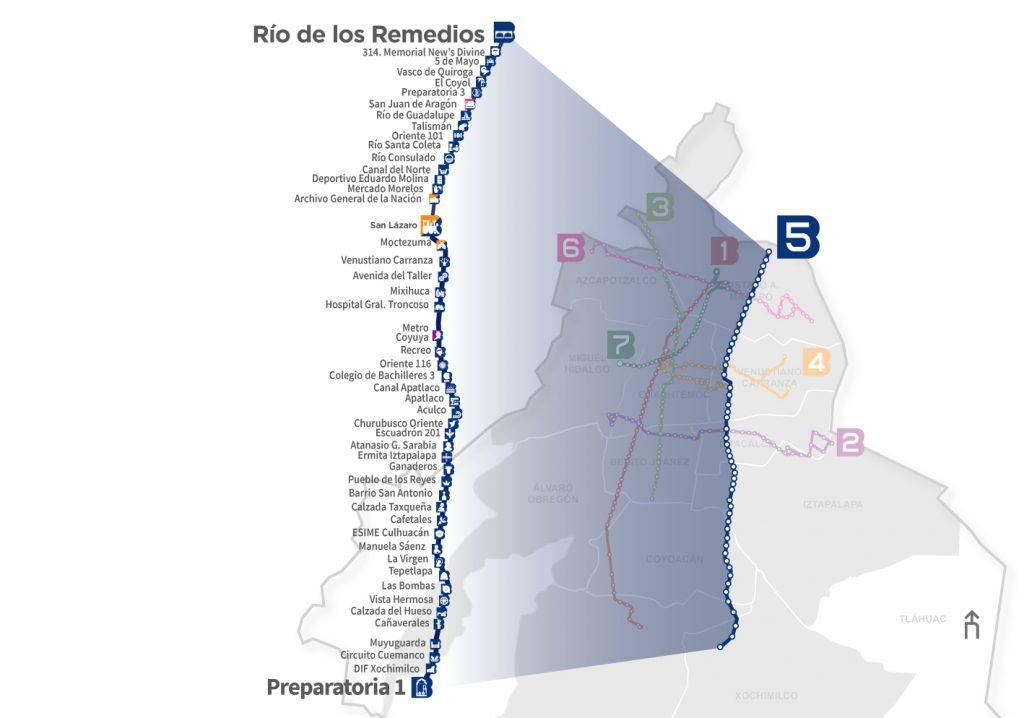 Línea 5 del metrobús